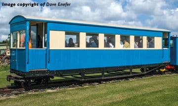 394-026 Bogie Coach Lincolnshire Coast Light Railway Blue & Cream Pre Order £TBA
