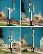 476 LMS Round Post Signal Pack (4 signals inc. Jcn/brackets)