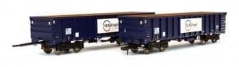 4F-025-016 MJA BOGIE BOX WAGON GB RAILFREIGHT 502051/052