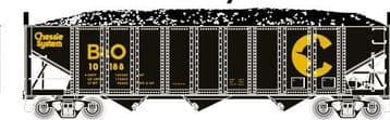 70261  3-Bay Ribbed Hopper  Chessie System