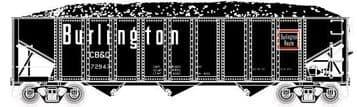 702614 3-Bay Ribbed Hopper Chicago, Burlington & Quincy