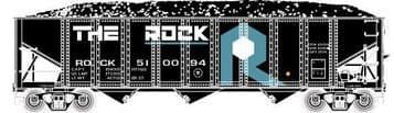 70276 3-Bay Ribbed Hopper  Chessie Sytem Rock Islands