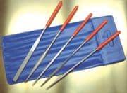 72512 5pc Diamond Needle File Set with soft grip handles