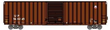 72642 60' FMC Hi-Cube X-Post Box Car Union Pacific