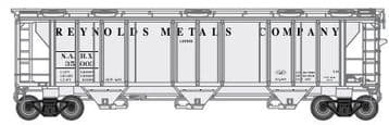 73495 PS-2 2893 3-Bay Covered Hopper Reynolds Metals