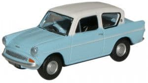 76105007 Ford Anglia Light Blue/Ermine White  ##Out Of Stock##