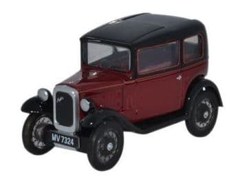 76ASS003 Austin Seven RN Saloon Maroon ##Out Of Stock##
