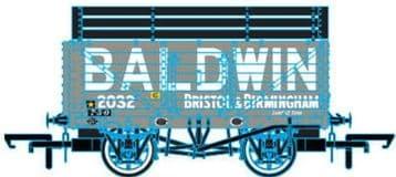 76CK7005 7 Plank Mineral Wagon - Baldwin 2032 Grey (3 Coke Rails)