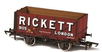 76MW7022 7 Plank Mineral Wagon Rickett 3 Disc Wheels ##Out Of Stock##