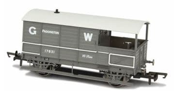 76TOB001 Toad Brake Van GWR 4 Wheel Planked (early) Paddington ##Out of stock##