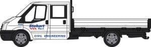 76TPU001 Ford Transit Dropside Stobart Rail