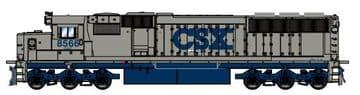 86899 EMD SD50 Diesel CSX 'Stealth' #8566