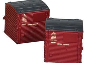 BARGAIN Farish 379-391 Type A Containers BR Crimson (x4)