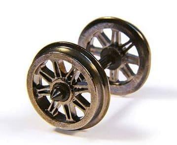 BC36-028 Metal Split Spoked Wagon Wheels (x10).