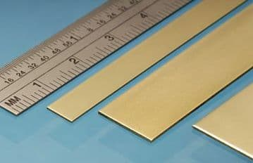 BS3M 25mm x 0.4mm brass Strip (2)