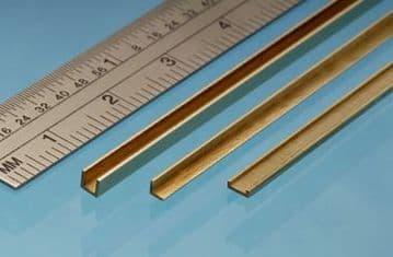 CC2 1mm x 2.5mm Brass C Channel