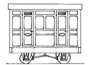 DM76 Freelance Panelled 4-Wheel 1st Class 2 Compartment Coach