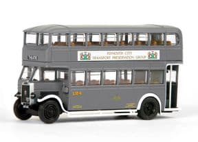 EXCLUSIVE EFE 99207A Leyland TD1 Closed Back Plymouth City Transport WWII PCTPG Adverts