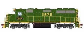 G64592 HO Scale GP40-2 Reading RDG 3675
