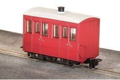 GR500UR  GVT 4-wheel enclosed side coach, plain red##Out Of Stock##