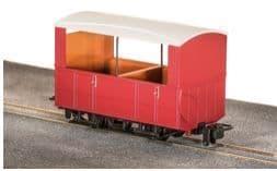 GR520UR GVT 4-wheel open side coach, plain red