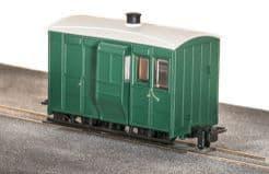 GR530UG GVT 4-wheel brake coach, plain green,