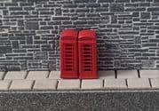 KD77 Telephone Boxes 2pcs