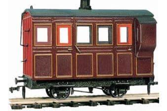 OR31 4 Wheel Coach/Brake, maroon livery