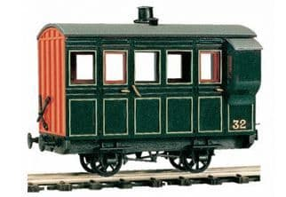 OR32 4 Wheel Coach/Brake, green livery