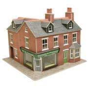 PO263 Corner Shop Red Brick OO/HO