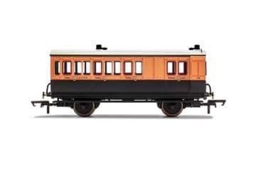 R40110 LSWR, 4 Wheel Coach, Brake 3rd Class, Fitted Lights, 179 - Era 2
