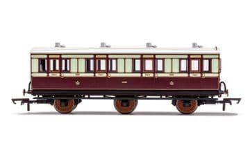 R40119 LNWR, 6 Wheel Coach, 1st Class, Fitted Lights, 1889 - Era 2