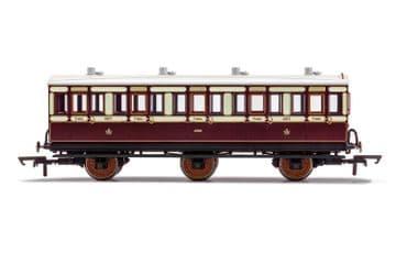 R40120A LNWR, 6 Wheel Coach, 3rd Class, Fitted Lights, 4671 - Era 2
