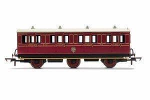 R40135 NBR, 6 Wheel Coach, 1st Class, Fitted Lights, 414