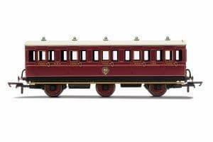 R40136 NBR, 6 Wheel Coach, 3rd Class, Fitted Lights, 1169