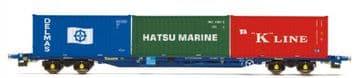 R6958 Tiphook, KFA Container wagon, 93390, with 3 x 20' containers; Delmas/Hats##Out Of stock##