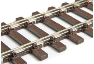 SL108F/12 Box of 12 Code 75 Bullhead Wooden Sleeper Flexible Track