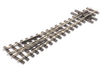 SLE495 Mainline Turnout R/H, 457mm (18in) radius, nickel silver rail