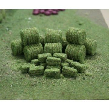 TS00925 N Gauge Hay Bales (10 round / 15 rectangle) ##Out Of Stock##