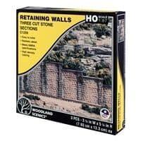 WC1259HO Cut Stone Retaining Wall (x3)