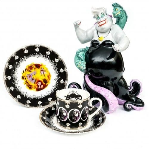 """Disney - Ursula from Disney's Little Mermaid  with Matching Teaset and 6"""" Plate Bundle"""