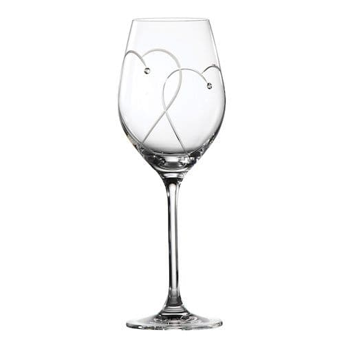 Royal Doulton Two Hearts Entwined Wine Glasses