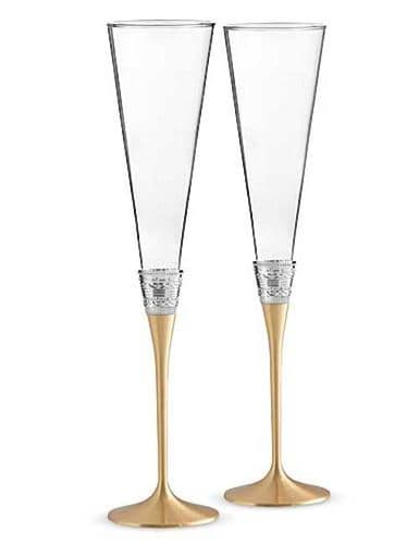 Vera Wang With Love Gold Toasting Flutes, Pair