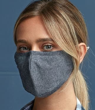3-layer protective face mask with woven fabric construction which allows the product to be washed an