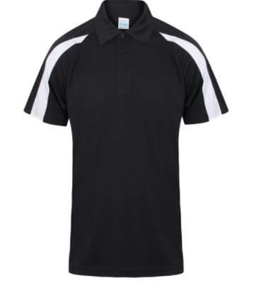 Contrast polo shirt with embroidered logo