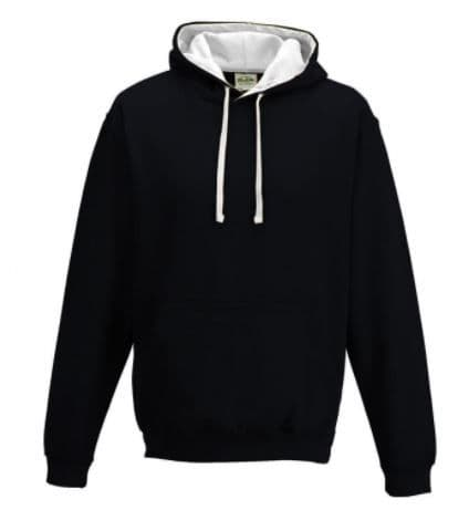 Hoodie With Embroidered Logo and Printed Reverse