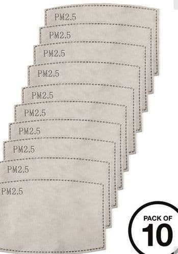 mask filters pack of 10 for use with  £4 mask