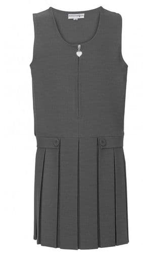 Pinafore Pleated Grey