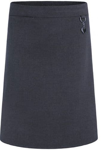 skirt stretch Grey with heart