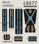 ED49077 1/48 Mikoyan MiG-23 Fabric Seatbelts (Trumpeter)
